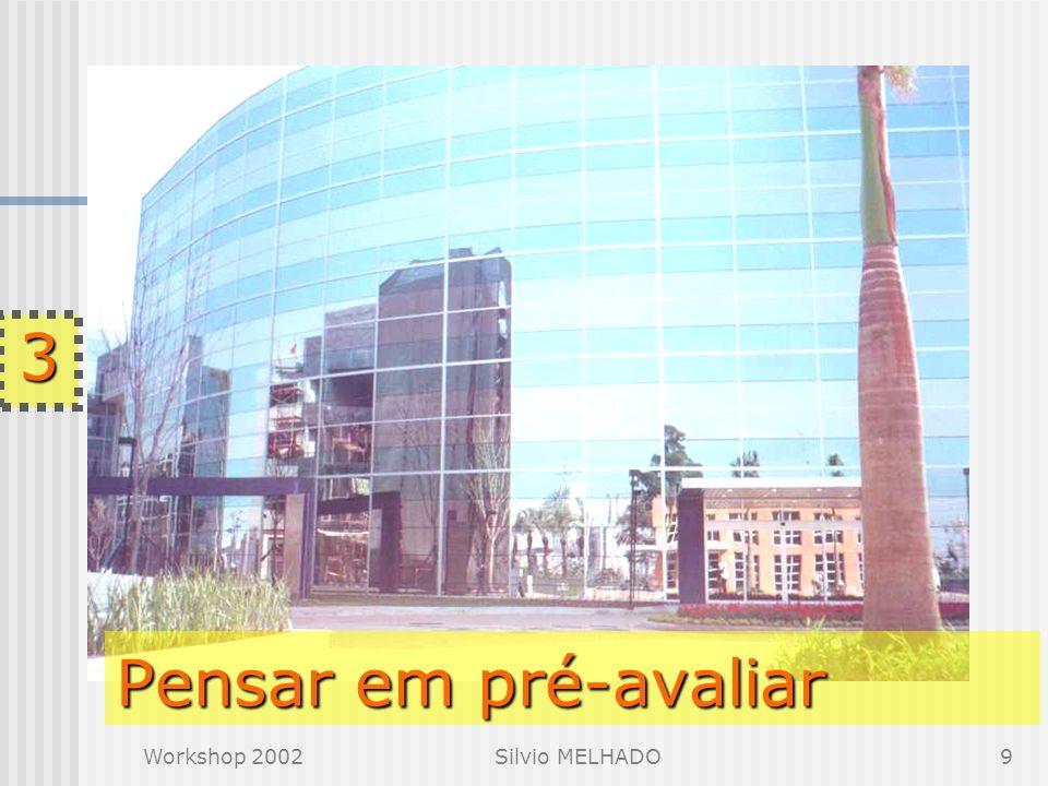 Workshop 2002Silvio MELHADO9 Pensar em pré-avaliar 3