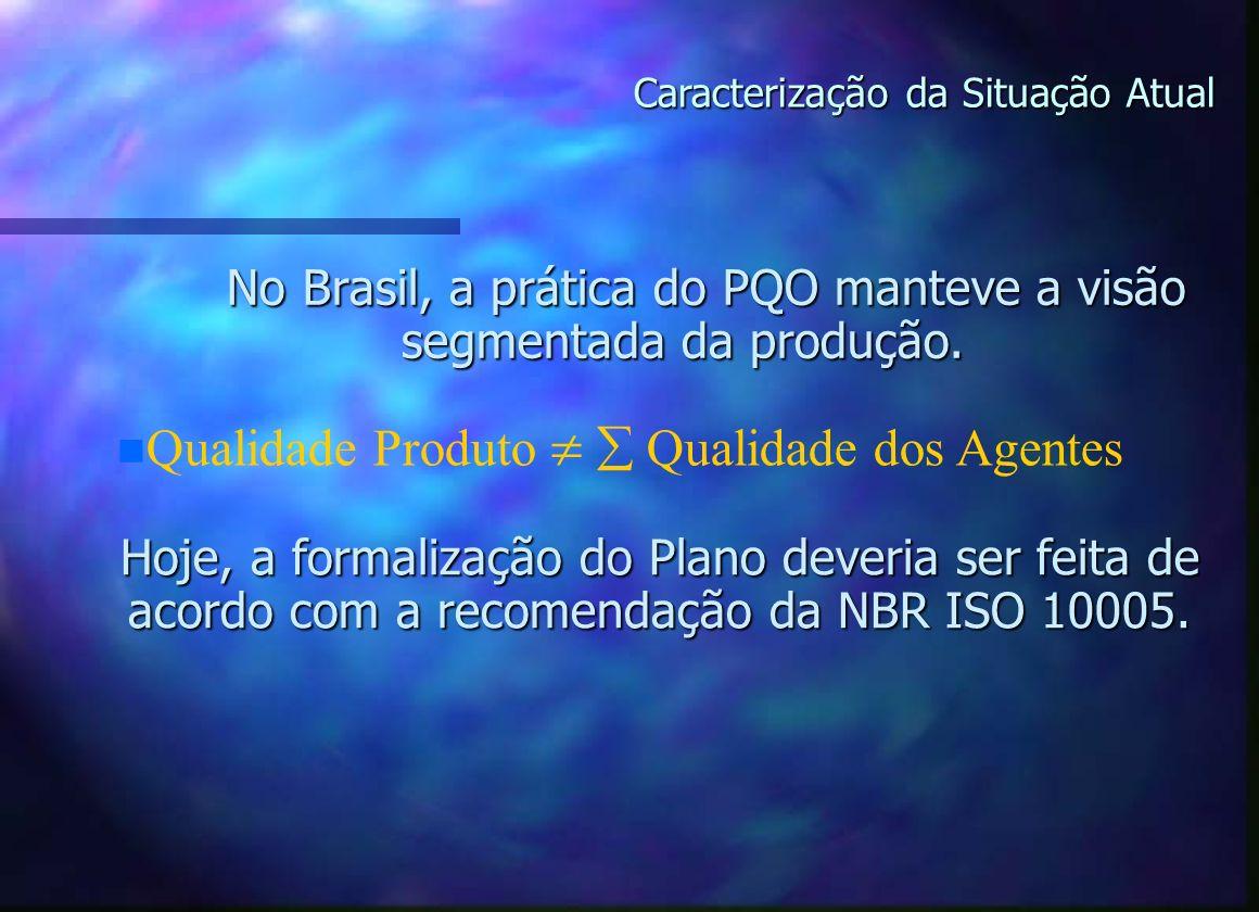 No Brasil, a prática do PQO manteve a visão segmentada da produção.
