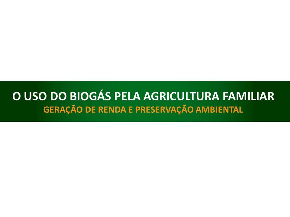 O USO DO BIOGÁS PELA AGRICULTURA FAMILIAR GERAÇÃO DE RENDA E PRESERVAÇÃO AMBIENTAL