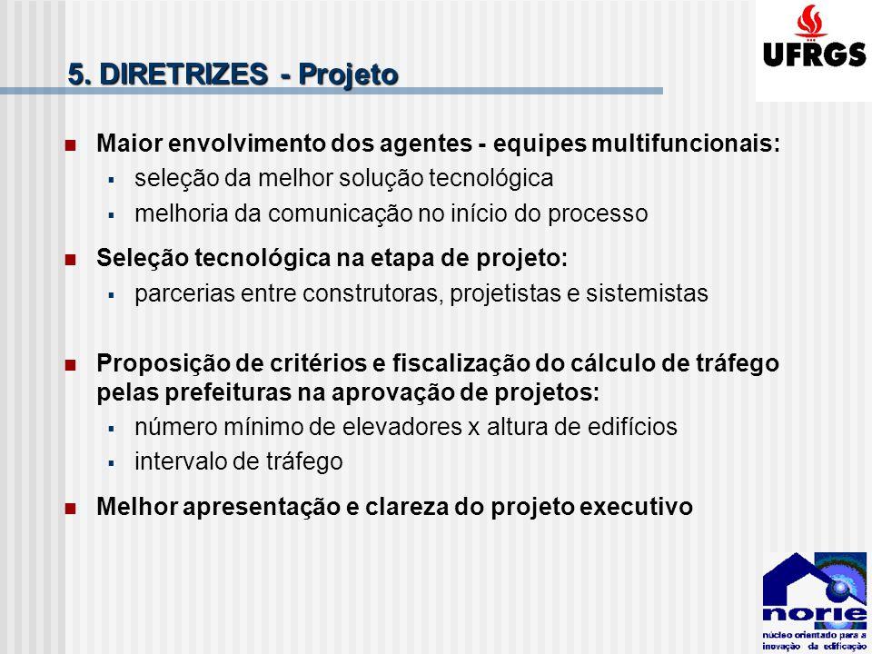 5. DIRETRIZES - Projeto Maior envolvimento dos agentes - equipes multifuncionais: seleção da melhor solução tecnológica melhoria da comunicação no iní