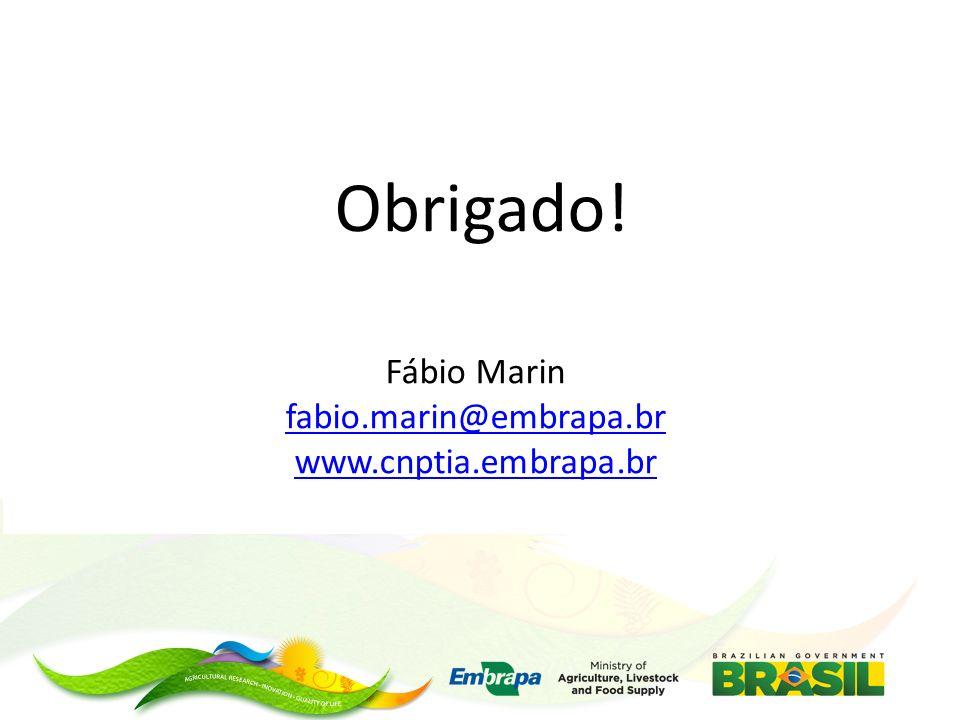 Obrigado! Fábio Marin fabio.marin@embrapa.br www.cnptia.embrapa.br