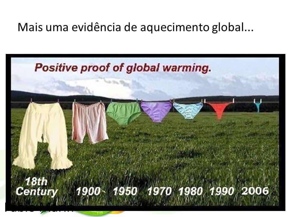 Mais uma evidência de aquecimento global... Fábio Marin