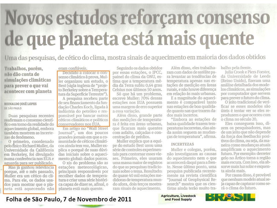 Folha de São Paulo, 7 de Novembro de 2011
