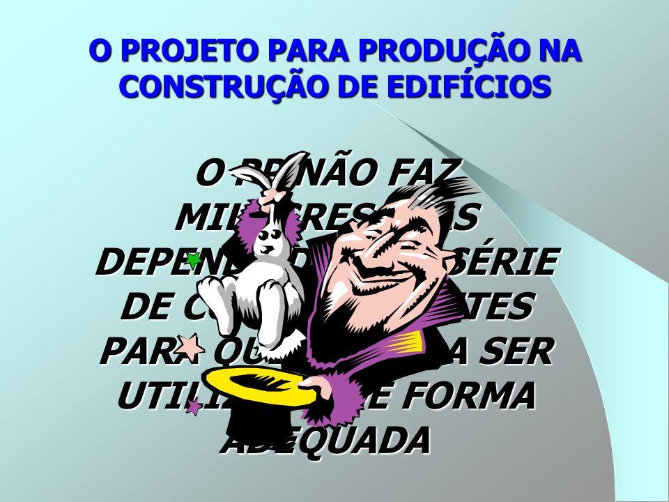 O PROJETO PARA PRODUÇÃO NA CONSTRUÇÃO DE EDIFÍCIOS O PP NÃO FAZ MILAGRES, MAS DEPENDE DE UMA SÉRIE DE CONDICIONANTES PARA QUE VENHA A SER UTILIZADO DE