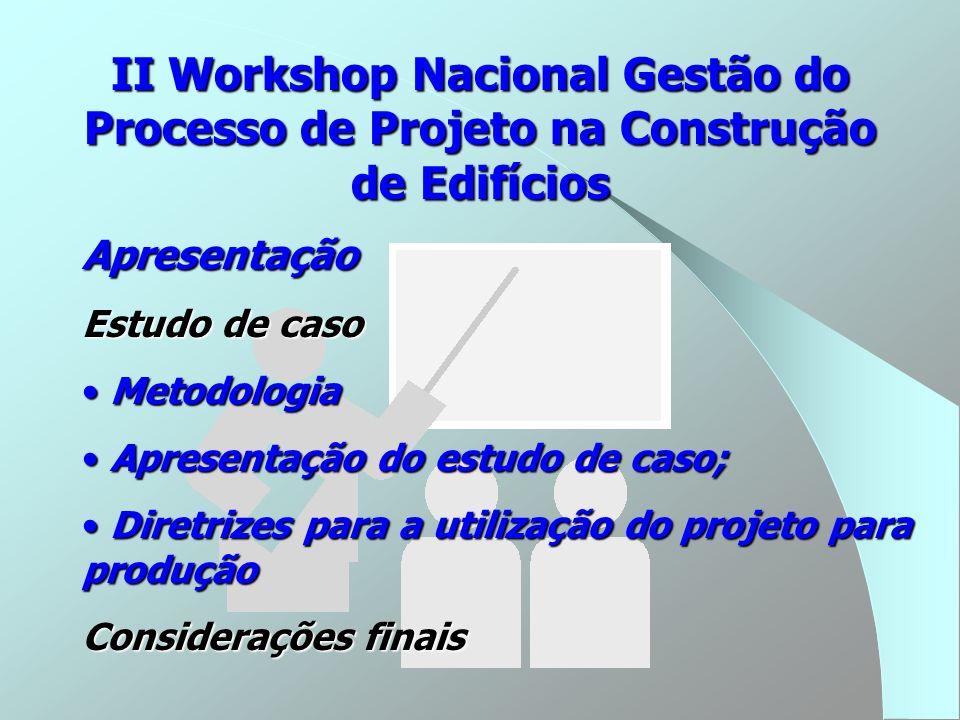 Apresentação Estudo de caso Metodologia Metodologia Apresentação do estudo de caso; Apresentação do estudo de caso; Diretrizes para a utilização do pr