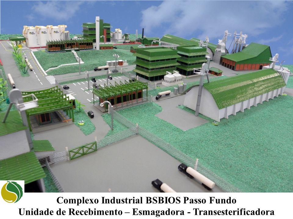 Complexo Industrial BSBIOS Passo Fundo Unidade de Recebimento – Esmagadora - Transesterificadora
