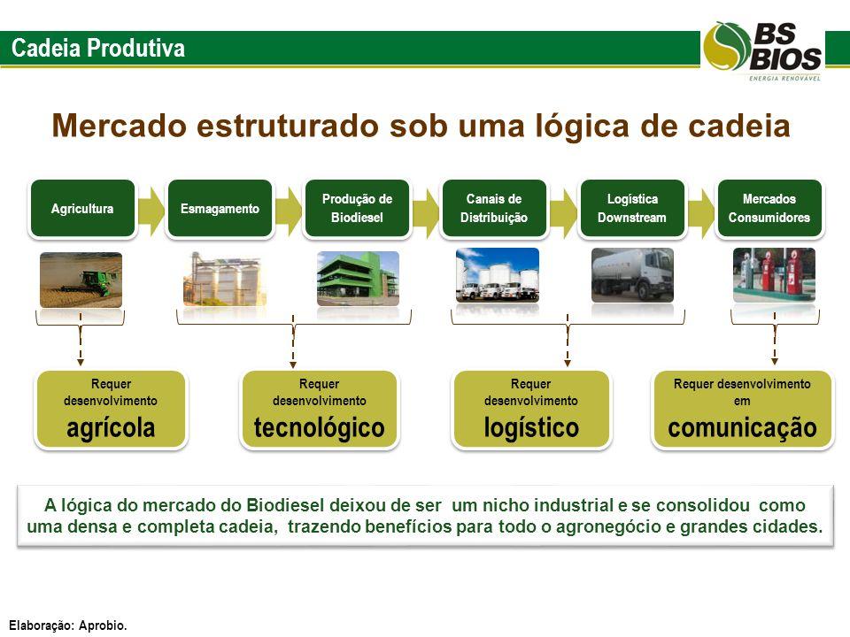 Cadeia Produtiva Requer desenvolvimento tecnológico Requer desenvolvimento agrícola Requer desenvolvimento logístico Requer desenvolvimento em comunic