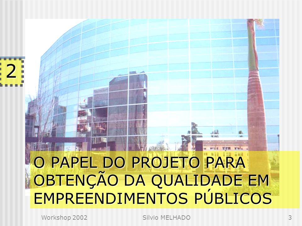 Workshop 2002Silvio MELHADO3 O PAPEL DO PROJETO PARA OBTENÇÃO DA QUALIDADE EM EMPREENDIMENTOS PÚBLICOS 2