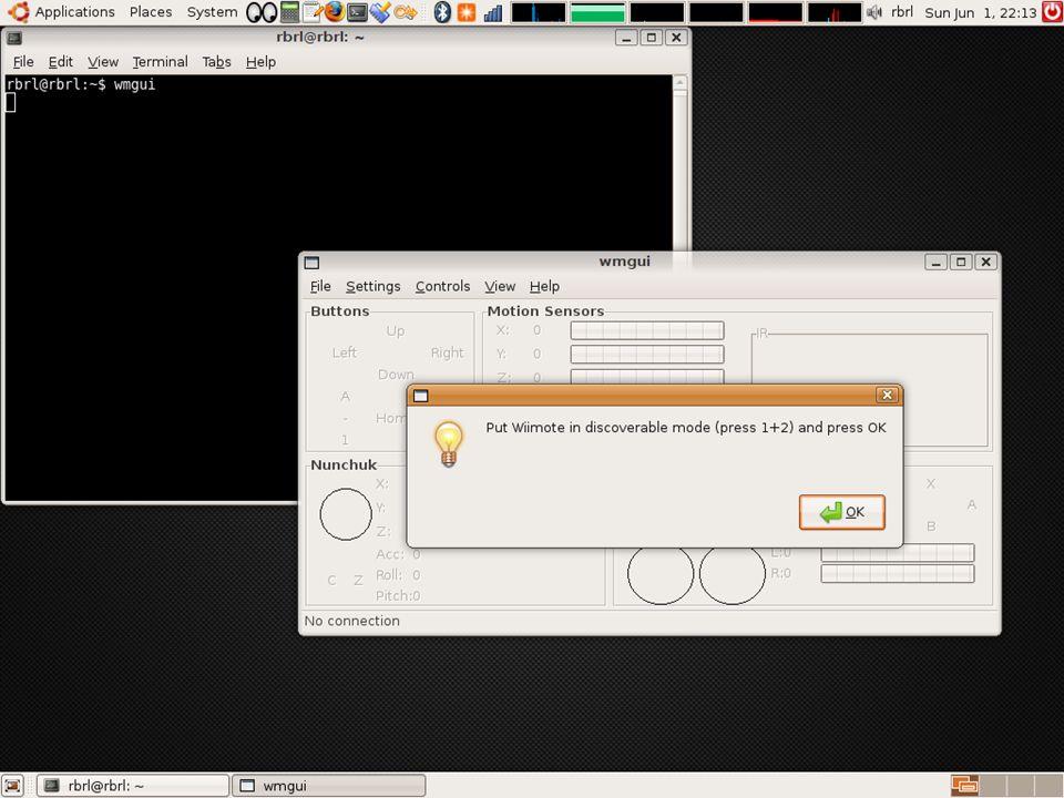 5) Teste os botões do Wiimote. 35