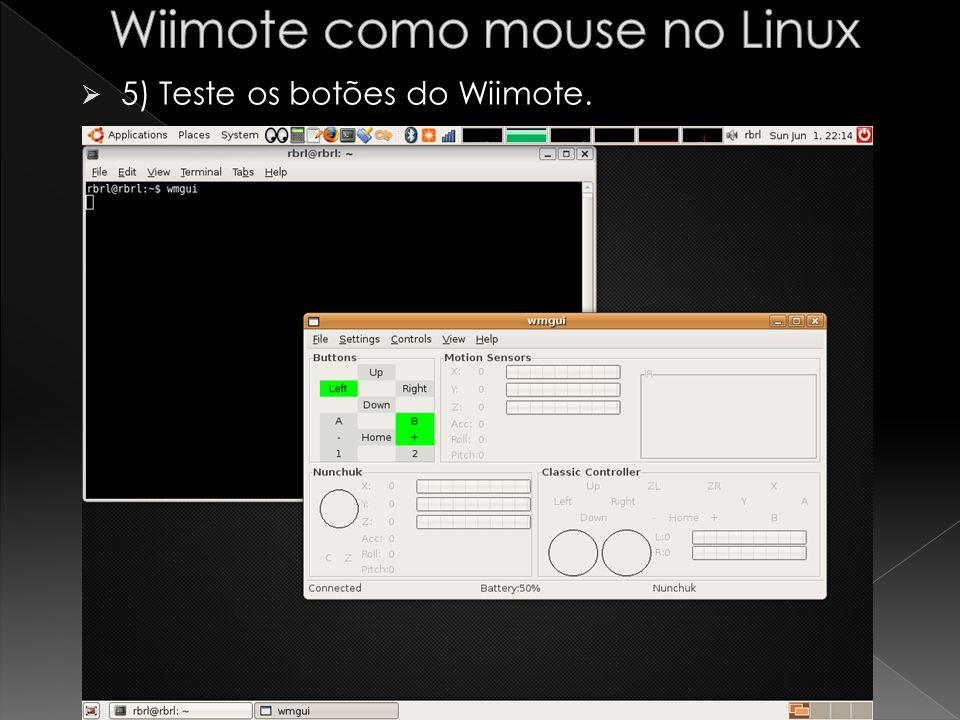 6) clicar no menu Settings e em Acc Data para habilitar o sensor de movimento. 36
