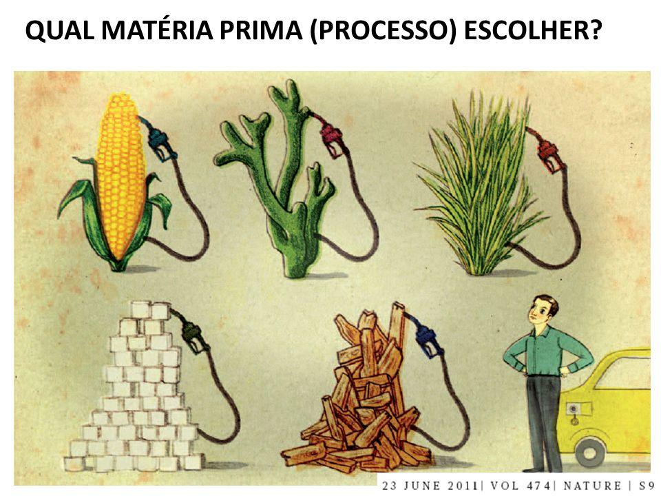 QUAL MATÉRIA PRIMA (PROCESSO) ESCOLHER?