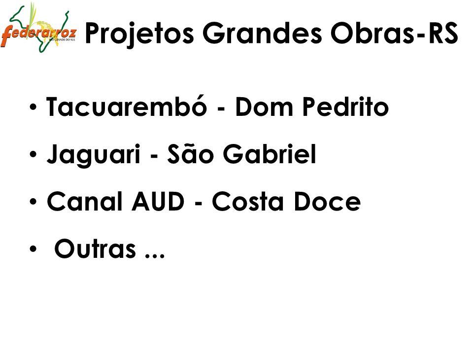 Projetos Grandes Obras-RS Tacuarembó - Dom Pedrito Jaguari - São Gabriel Canal AUD - Costa Doce Outras...