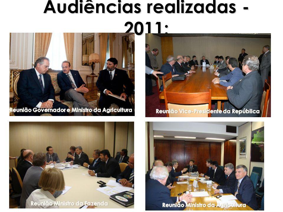 Audiências realizadas - 2011: