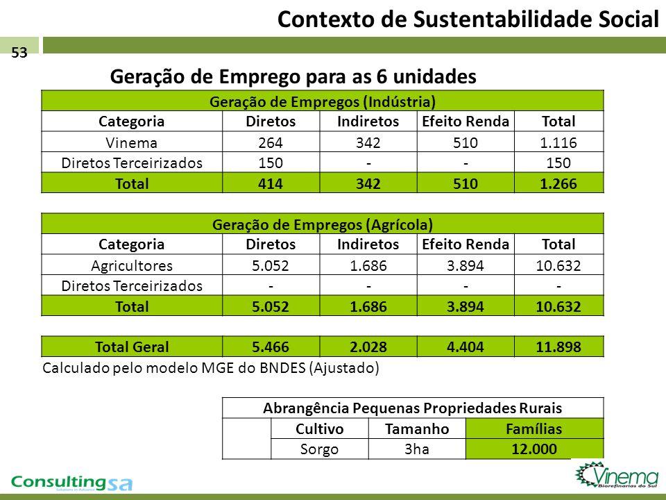 Geração de Empregos (Indústria) CategoriaDiretosIndiretosEfeito RendaTotal Vinema2643425101.116 Diretos Terceirizados150-- Total4143425101.266 Geração