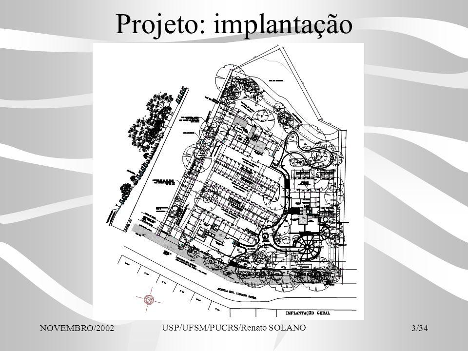 NOVEMBRO/2002 USP/UFSM/PUCRS/Renato SOLANO 34/34 CONCLUSÕES O projeto tinha sido concebido dentro dos princípios arquitetônicos e econômicos A intervenção possibilitou melhor desempenho econômico sem violentar a arquitetura A intervenção provocou uma economia de R$ 270.774,31, equivalentes a 4,5 apartamentos pelo preço de venda.