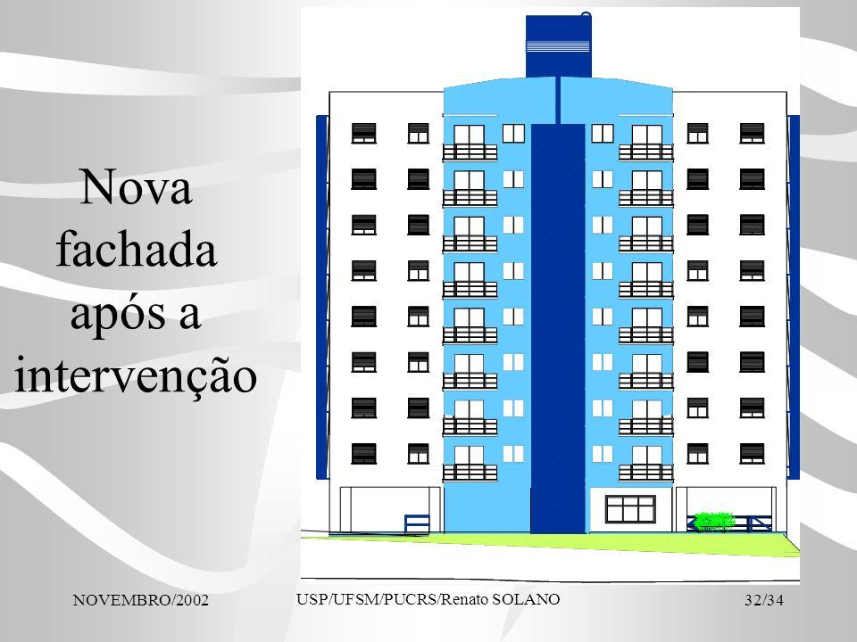 NOVEMBRO/2002 USP/UFSM/PUCRS/Renato SOLANO 32/34 Nova fachada após a intervenção