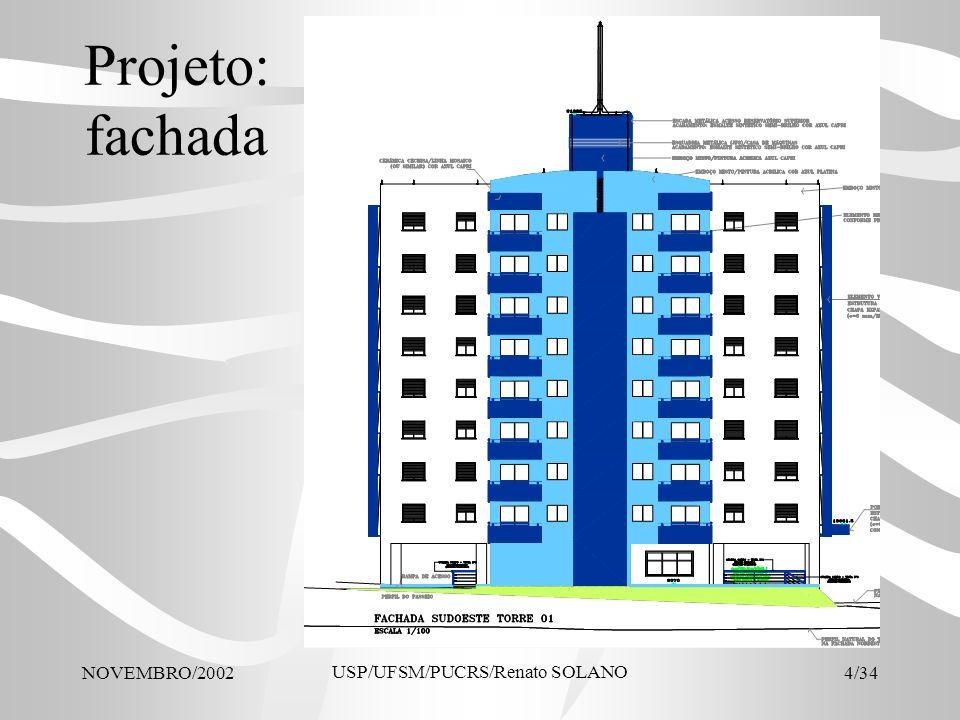 NOVEMBRO/2002 USP/UFSM/PUCRS/Renato SOLANO 4/34 Projeto: fachada