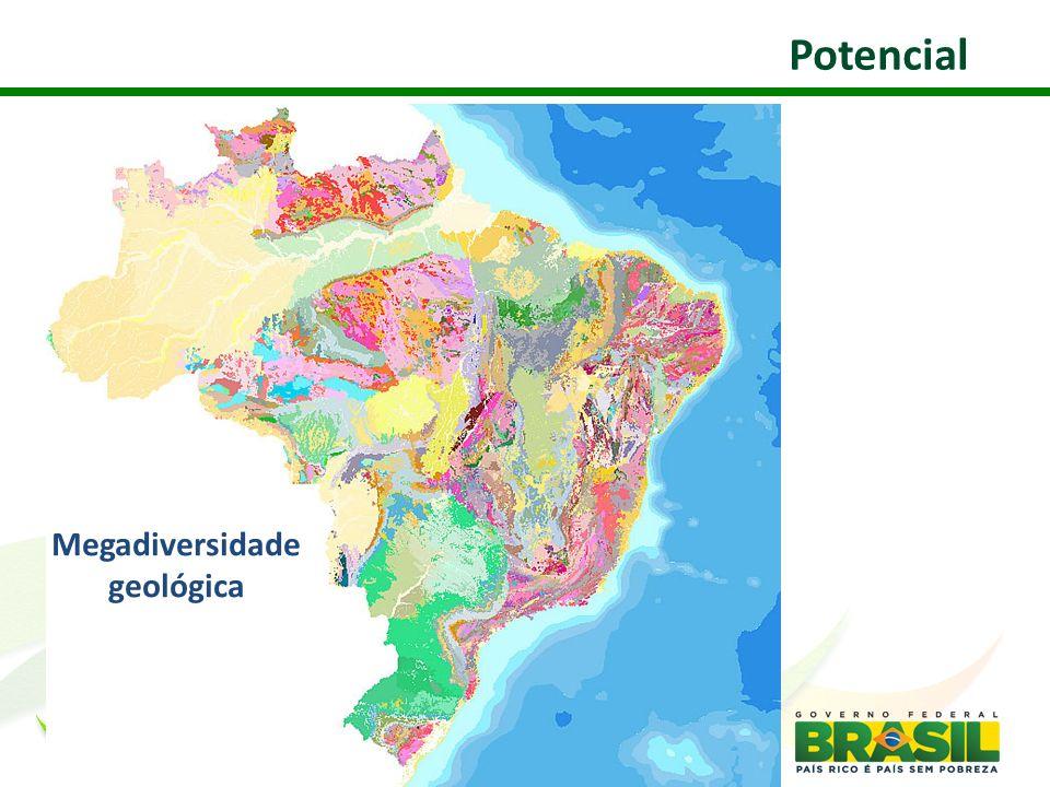 Megadiversidade geológica Potencial