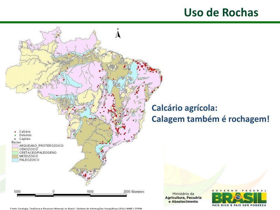 Calcário agrícola: Calagem também é rochagem! Uso de Rochas