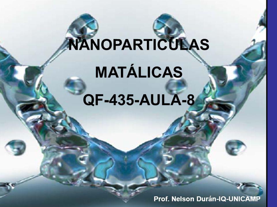 NANOPARTICULAS MATÁLICAS QF-435-AULA-8 Prof. Nelson Durán-IQ-UNICAMP