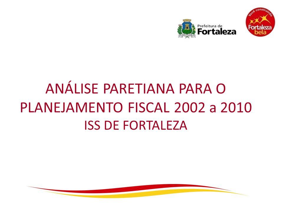 ANÁLISE PARETIANA PARA O PLANEJAMENTO FISCAL 2002 a 2010 ISS DE FORTALEZA