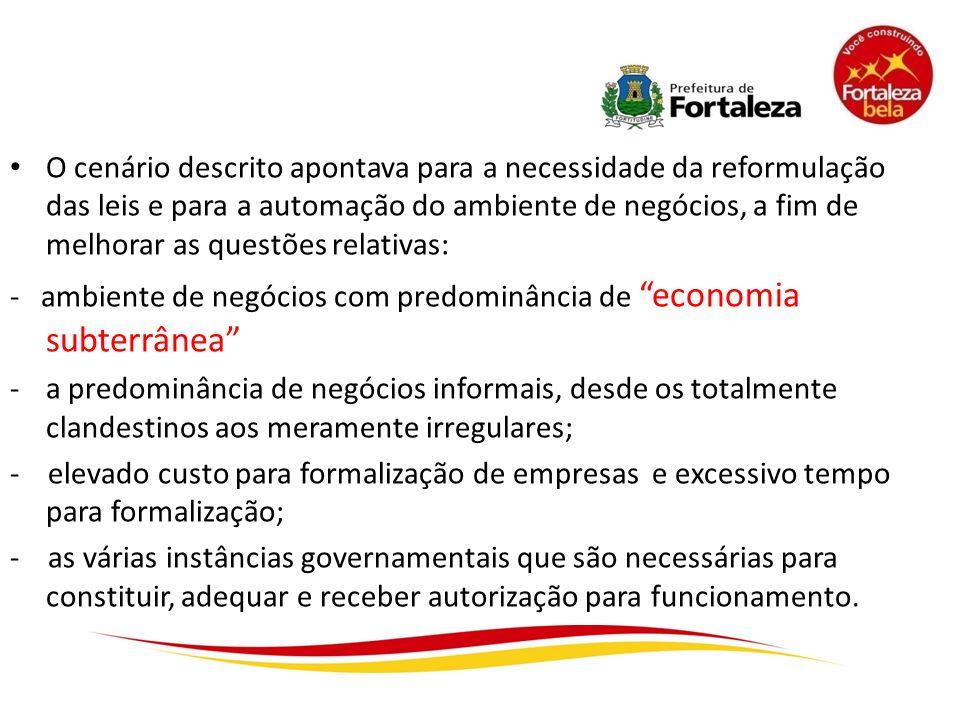 O cenário descrito apontava para a necessidade da reformulação das leis e para a automação do ambiente de negócios, a fim de melhorar as questões rela
