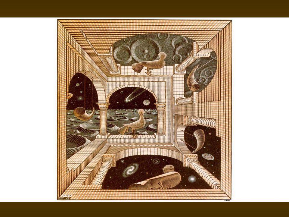 Maurits C.Escher nasceu em Leeuwarden, Holanda, em 1898, e morreu em 1972.