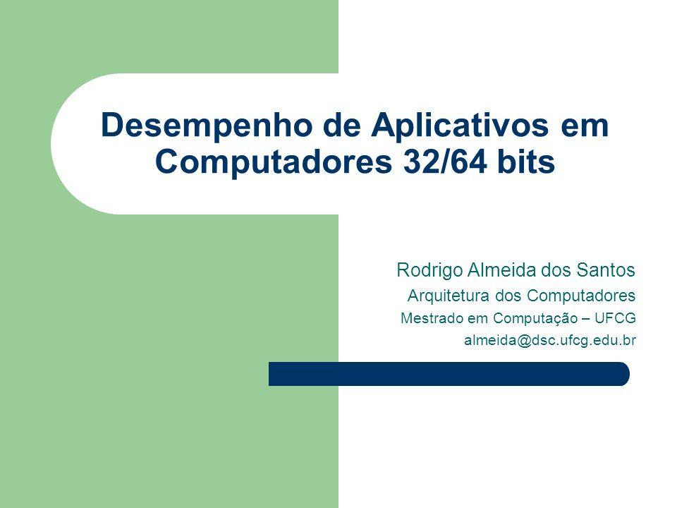 Arquitetura dos Computadores 2 Agenda Análise de Arquiteturas 32/64 bits – Evolução IA-32 (x86) – Arquitetura Itanium 2 (IA-64) Necessidades Gerais de tecnologias 64 bits Aplicações que necessitam de 64 bits – Windows ruma para 64 bits Análise de Performance – Windows Server 2003 – Processamento de Heuristica Resultados Bibliografia