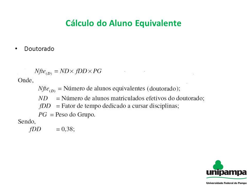 Cálculo do Aluno Equivalente Doutorado