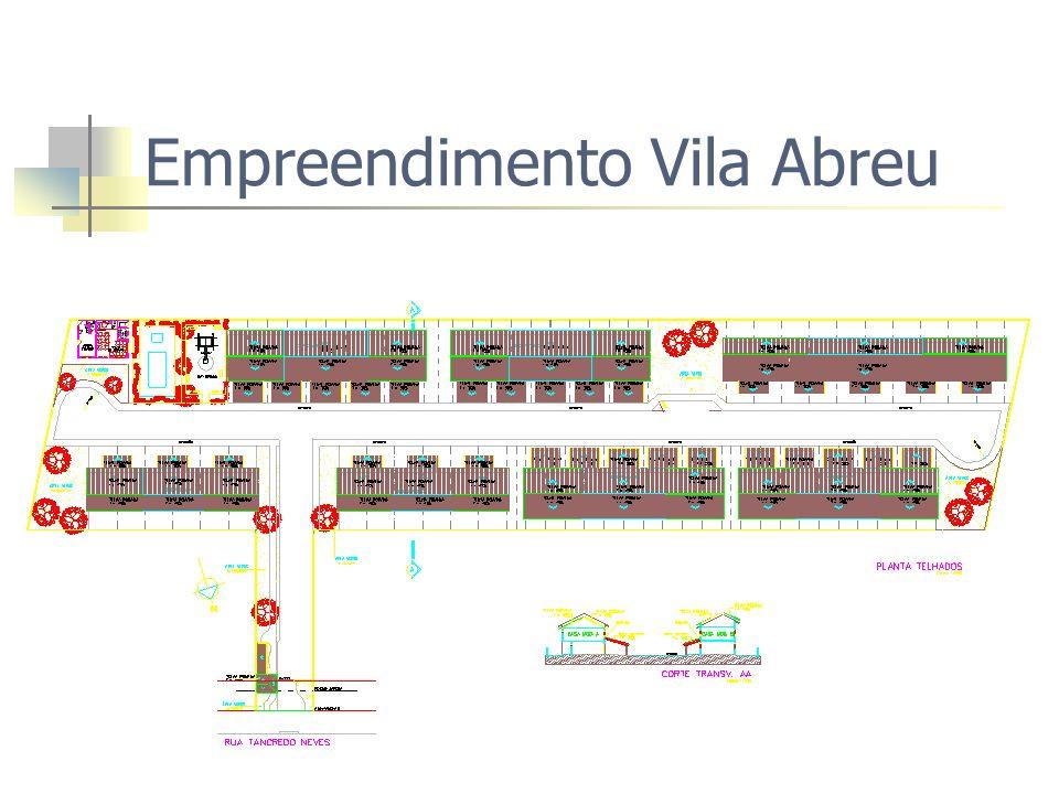 Empreendimento Vila Abreu Condomínio horizontal 62 UH em fitas de 10 2 e 3 dormitórios R u a 3 R u a 2 Rua 4 Avenida 1