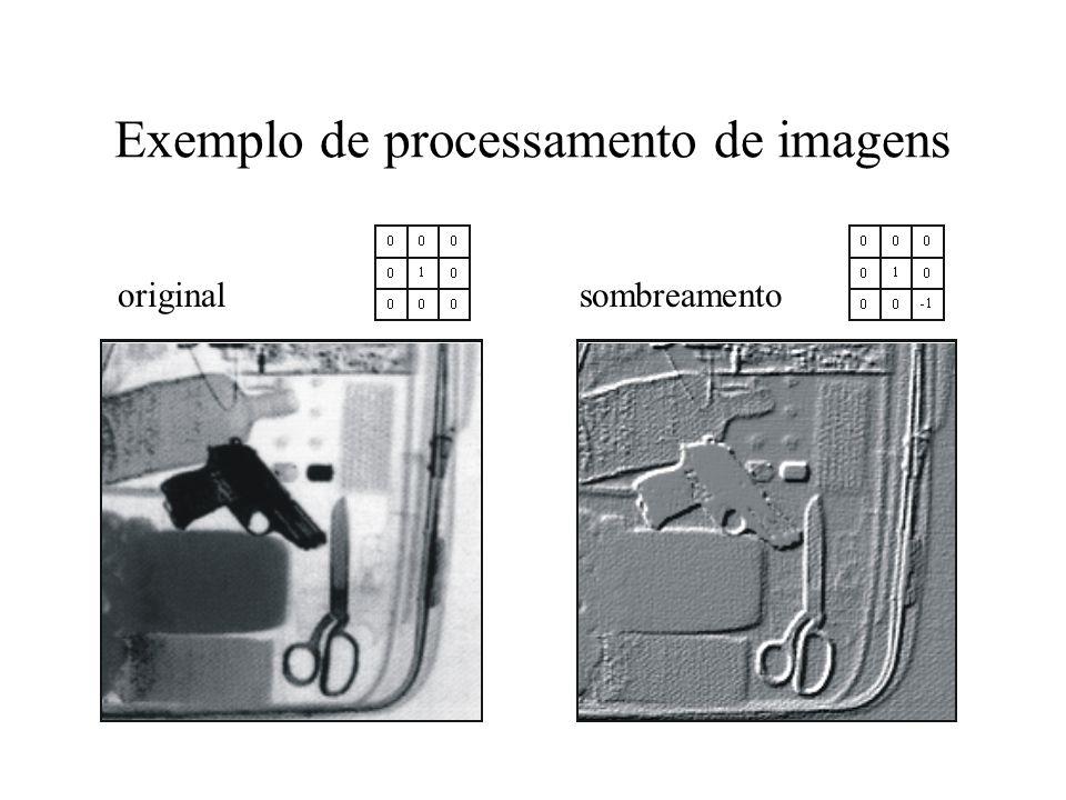 realçar contraste detectar bordas Exemplos de processamento de imagens