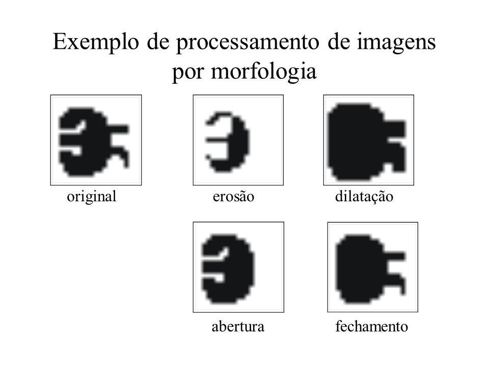 Exemplo de processamento de imagens por morfologia originalerosãodilatação aberturafechamento