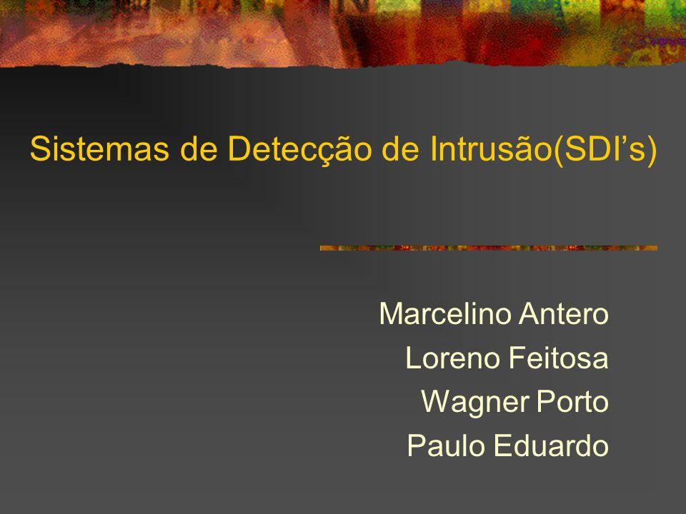Marcelino Antero Loreno Feitosa Wagner Porto Paulo Eduardo Sistemas de Detecção de Intrusão(SDIs)