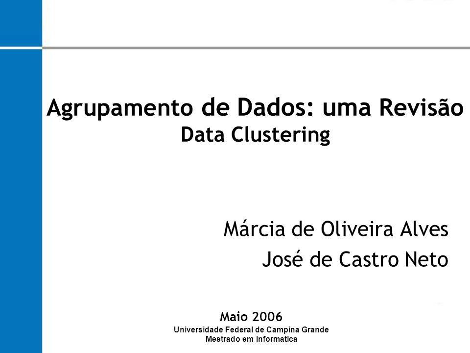 Segmentação : Os métodos de agrupamento são utilizados para segmentar bases de dados em grupos homogêneos Mineração de Dados e Agrupamento Abordagem da Mineração de Dados