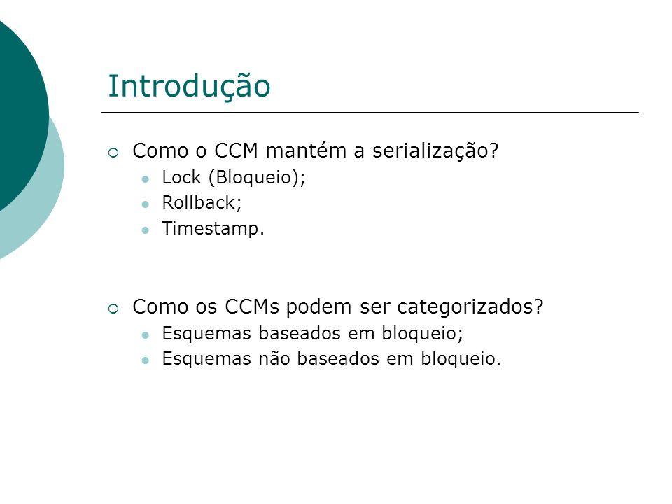 Esquemas baseados em bloqueio Quais as características de um esquema baseado em bloqueio.