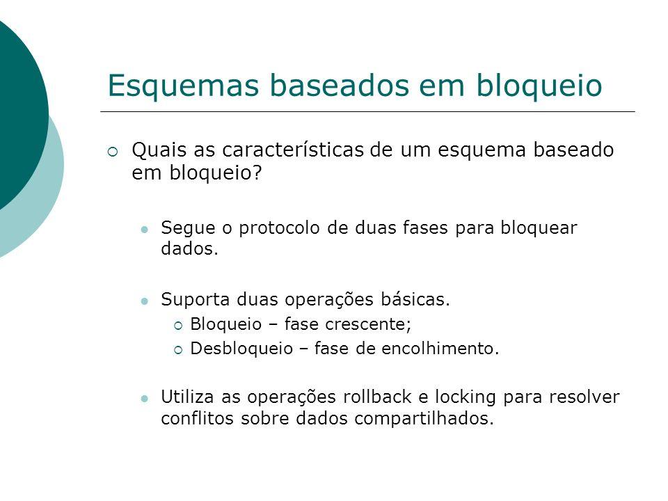 Esquemas baseados em bloqueio Como um esquema baseado em bloqueio funciona.