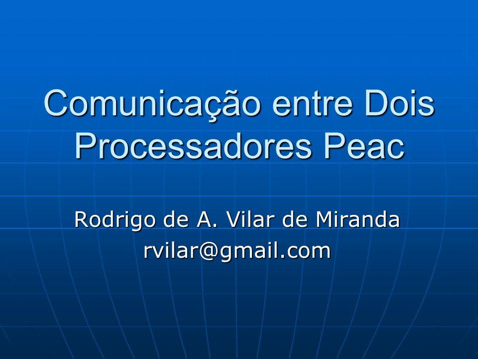 Comunicação entre Dois Processadores Peac Rodrigo de A. Vilar de Miranda rvilar@gmail.com