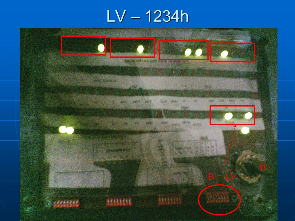 LV – 1234h B = LV B