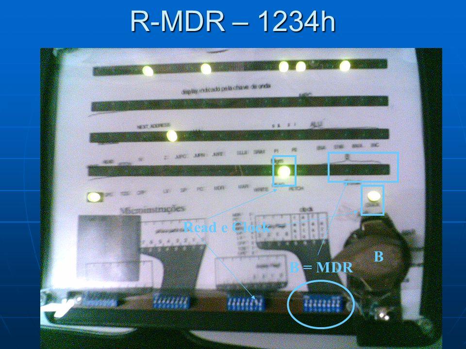 R-MDR – 1234h B B = MDR Read e Clock