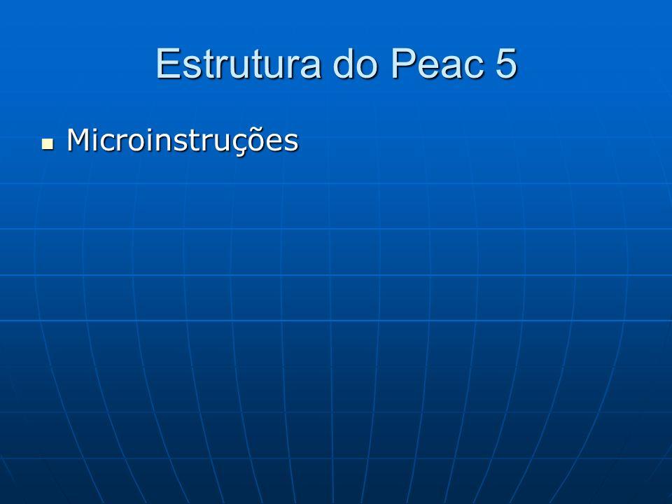 Estrutura do Peac 5 Microinstruções Microinstruções