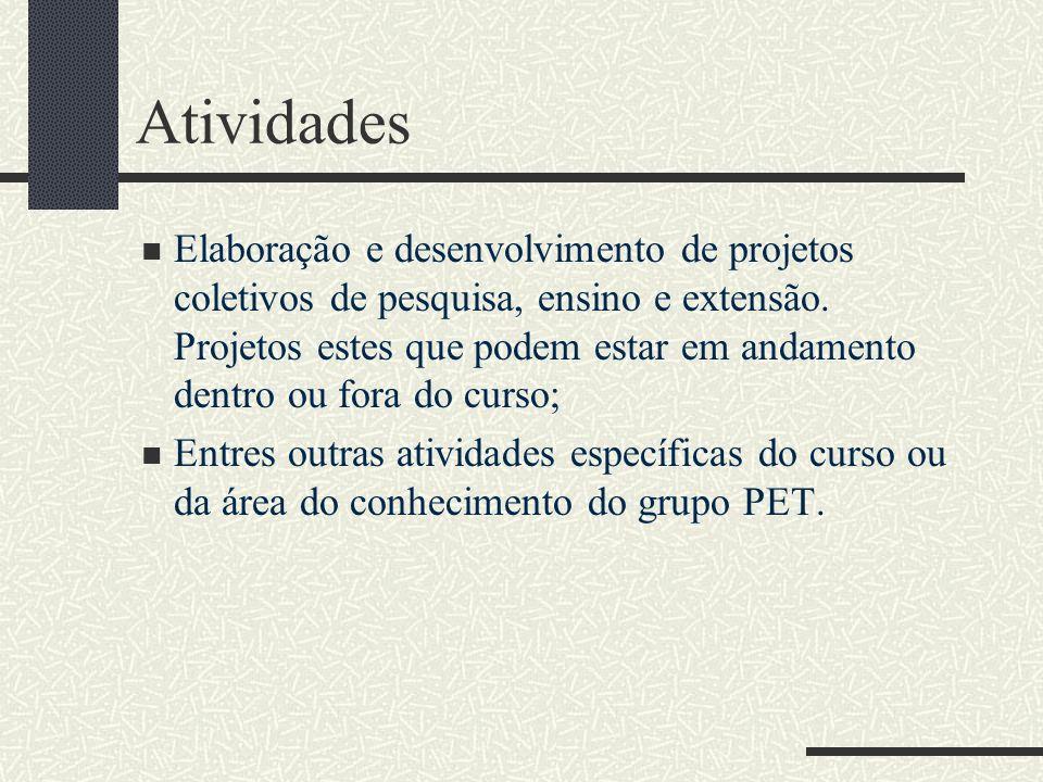 Grupos PET na UFCG Na Universidade Federal de Campina Grande temos cinco grupos PET, são eles: Antropologia; Computação; Economia; Elétrica; Letras.