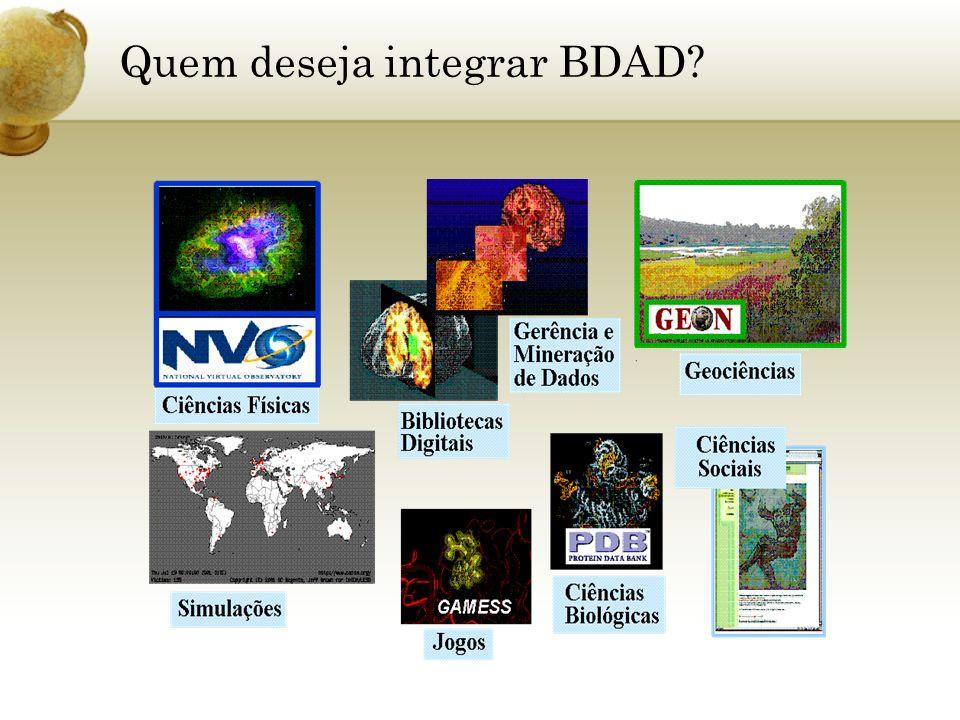 Quem deseja integrar BDAD?