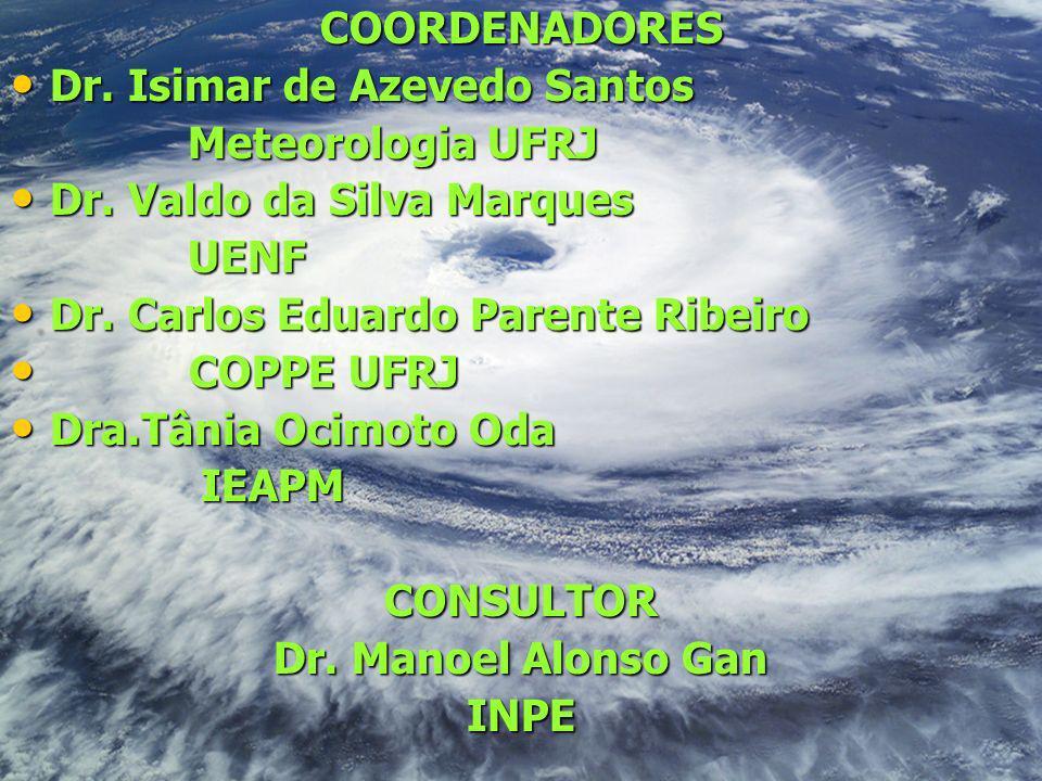 COORDENADORES Dr. Isimar de Azevedo Santos Dr. Isimar de Azevedo Santos Meteorologia UFRJ Meteorologia UFRJ Dr. Valdo da Silva Marques Dr. Valdo da Si