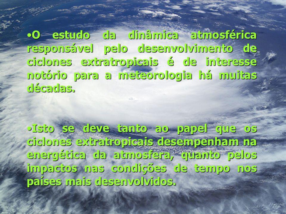 O estudo da dinâmica atmosférica responsável pelo desenvolvimento de ciclones extratropicais é de interesse notório para a meteorologia há muitas déca