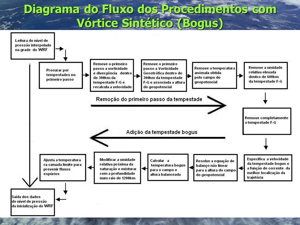 Diagrama do Fluxo dos Procedimentos com Vórtice Sintético (Bogus)