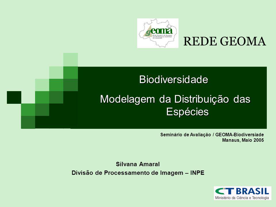Silvana Amaral Divisão de Processamento de Imagem – INPE Seminário de Avaliação / GEOMA-Biodiversiade Manaus, Maio 2005 Biodiversidade Modelagem da Di