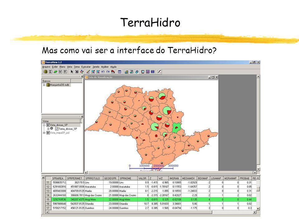 mapas de limitações, redes de drenagem cenários de uso e ocupação TerraHidro E o que se ganha desenvolvendo o próprio sistema.