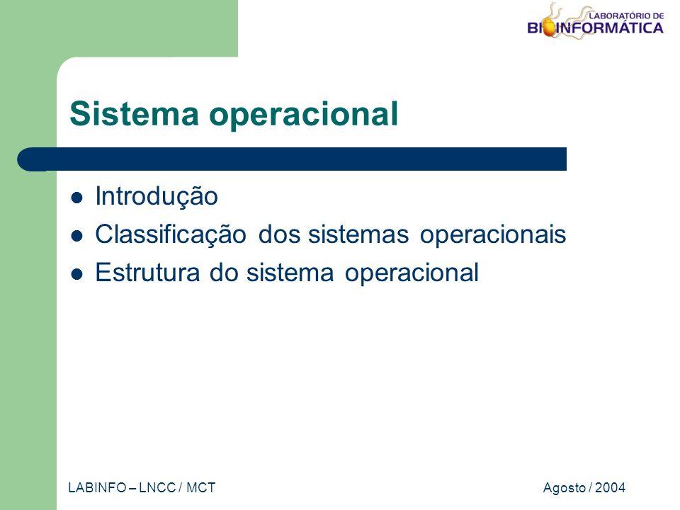 Agosto / 2004LABINFO – LNCC / MCT Banco de dados – projeto Desenho com um MER Gene Categoria tem nome produto seq nome descrição atributosentidades relacionamento N 1 cardinalidade