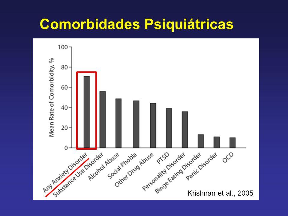 Comorbidades Psiquiátricas Krishnan et al., 2005