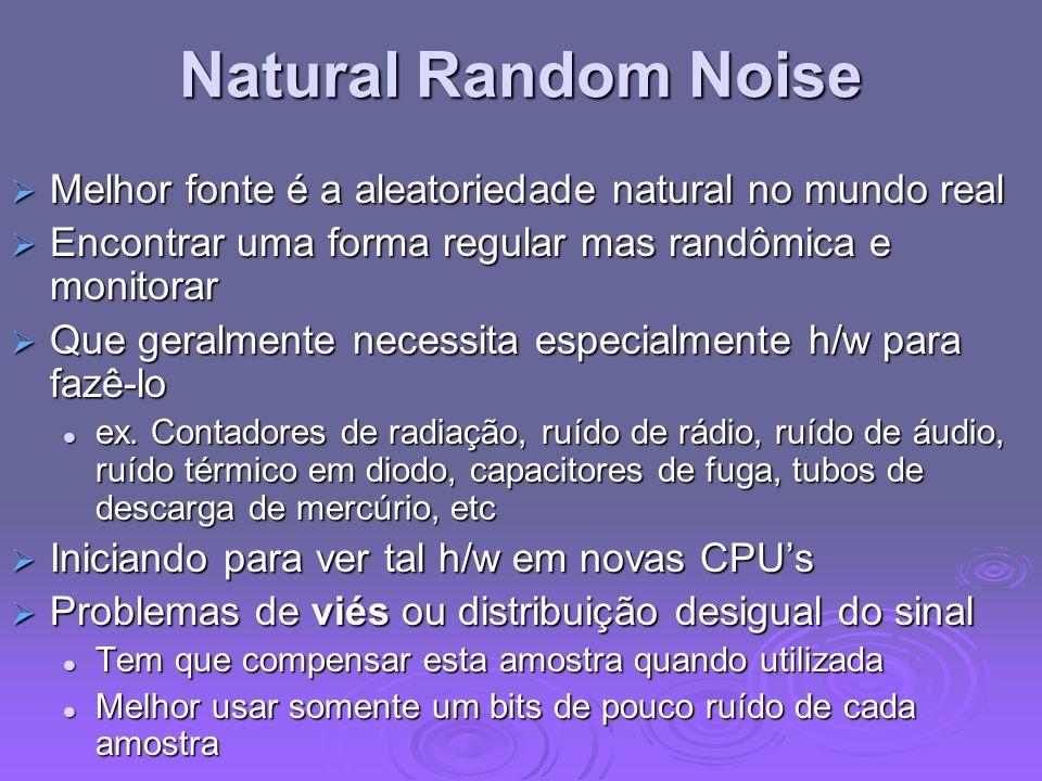 Natural Random Noise Melhor fonte é a aleatoriedade natural no mundo real Melhor fonte é a aleatoriedade natural no mundo real Encontrar uma forma reg